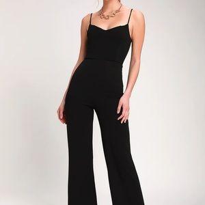 Lulus Sweetheart Neckline Black Jumpsuit